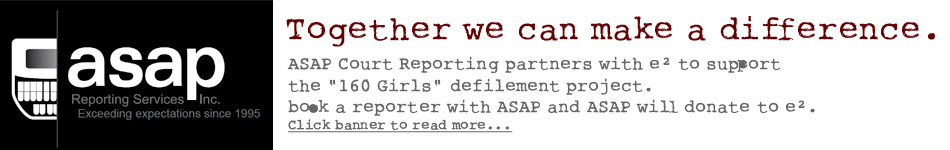 ASAP reporting partnership with the Equality Effect