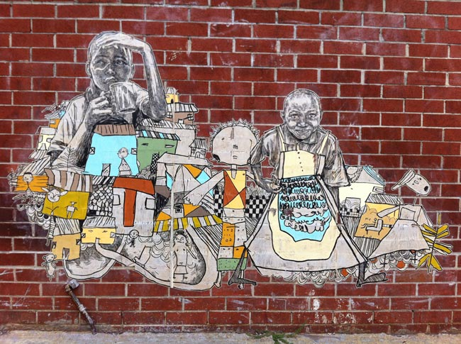 Mural by Swoon for the Equality Effect
